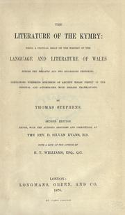 The literature of the Kymry by Stephens, Thomas