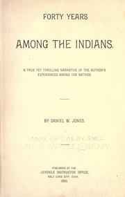 Forty years among the Indians PDF