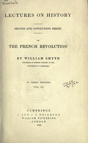 Lectures on history by Smyth, William