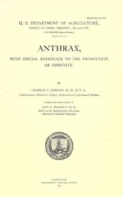 Anthrax by Charles F. Dawson