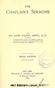 The Chaplain's sermons by Smith, John Talbot