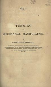 Turning and mechanical manipulation by Charles Holtzapffel
