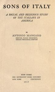 Sons of Italy by Mangano, Antonio