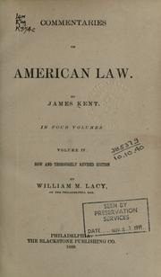 Commentaries on American law by James Kent