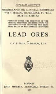 Lead ores by T. C. F. Hall