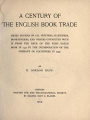 A century of the English book trade PDF