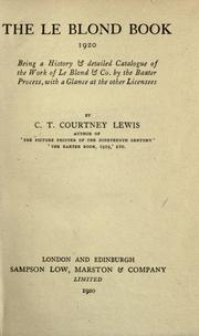 The Le Blond book, 1920 by C. T. Courtney Lewis