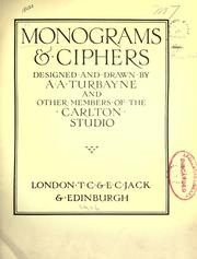 Cover of: Monograms & ciphers by A. A. Turbayne