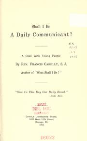 Shall I be a daily communicant? PDF