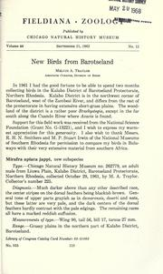 New birds from Barotseland by Traylor, Melvin Alvah.