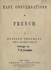Easy conversations in French by Chouquet, Gustave