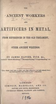 The ancient workers and artificers in metal PDF