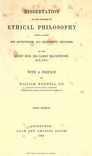 Dissertation on the progress of ethical philosophy