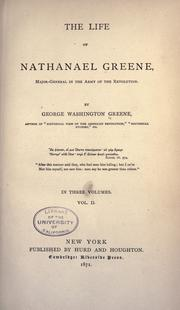 The life of Nathanael Greene by Greene, George Washington