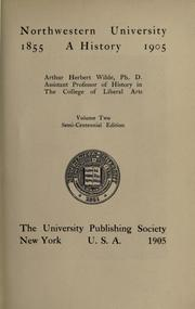 Cover of: Northwestern University by Arthur Herbert Wilde