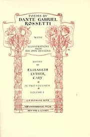 Poems by Dante Gabriel Rossetti