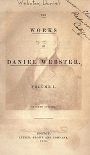 Works. by Webster, Daniel