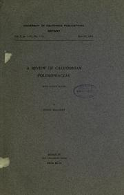 A review of Californian Polemoniaceae PDF