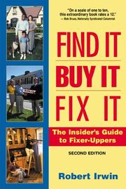 Cover of: Find it, buy it, fix it by Robert Irwin