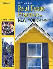Modern real estate practice in New York by Edith Lank