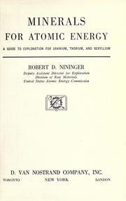 Minerals for atomic energy by Robert D. Nininger