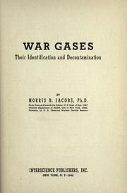War gases by Morris Boris Jacobs