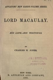 Lord Macaulay by Charles H. Jones