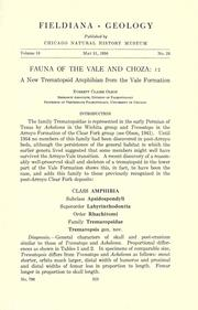 Fauna of the Vale and Choza by Everett Claire Olson