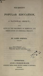 Necessity of popular education, as a national object PDF