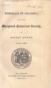 Memorials of Columbus PDF