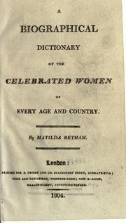 A biographical dictionary of the celebrated women of every age and country PDF