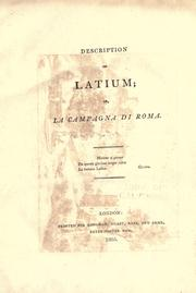 Description of Latium by Ellis Cornelia Knight