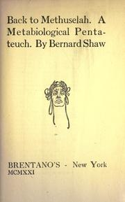 Cover of: Back to Methuselah by George Bernard Shaw