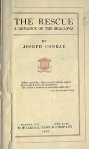 Cover of: The rescue by Joseph Conrad