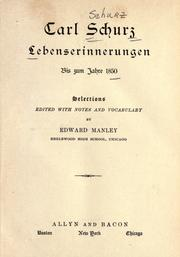Lebenserinnerungen by Carl Schurz