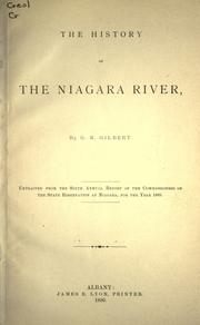 The history of the Niagara river by Grove Karl Gilbert