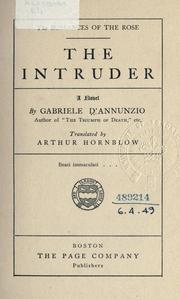 Cover of: The intruder by Gabriele D'Annunzio