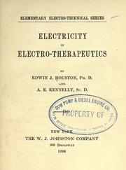 Electricity in electro-therapeutics.
