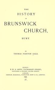 The history of Brunswick Church, Bury PDF