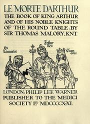 Cover of: Le morte Darthur by Sir Thomas Malory