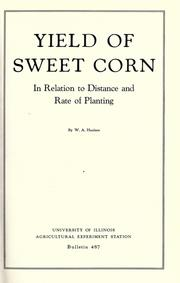 Yield of sweet corn in relation to distance and rate of planting PDF