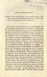 Extract from the charge of Judge Maynard to the grand jury of Northampton County PDF