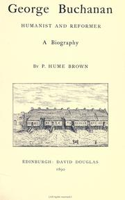 George Buchanan by Brown, Peter Hume