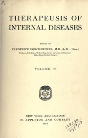 Forchheimer's Therapeusis of internal diseases PDF