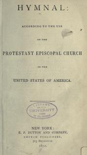 The hymnal by Episcopal Church.