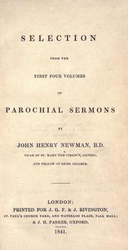 Parochial sermons by John Henry Newman