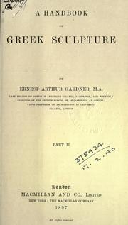 A handbook of Greek sculpture by Ernest Arthur Gardner