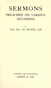Sermons preached on various occasions PDF