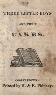 The Three little boys and their cakes by