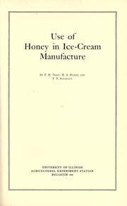 Use of honey in ice-cream manufacture PDF